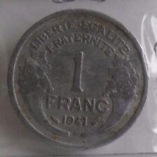 1 franc morlon alu 1941 LOURDE : B : pièce de monnaie française