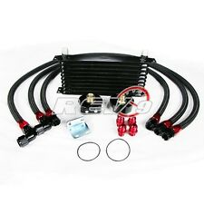 REV9 UNIVERSAL 19 ROW OIL COOLER KIT WITH OIL FILTER RELOCATION KIT NA TURBO JDM