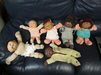 Set of  6 Cabbage Patch Dolls Koosas