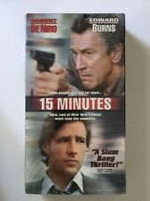 15 MINUTES (VHS, 2002) Robert De Niro, Edward Burns Kelsey Grammer, Avery Brooks