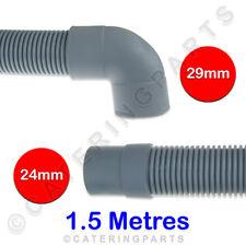Dihr 25031 15721 flexibel Geschirrspüler Ablaufschlauch 1.5m M mit Krümmer