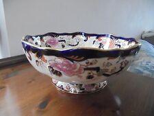 Mason's  Blue Mandalay Large Footed Fruit Bowl