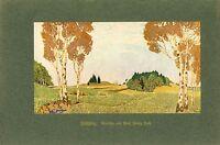 Frühling Franz Hoch Freiburg Breisgau Kunstdruck 1917 gefallen 1916 in Vogesen