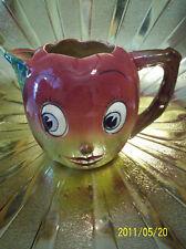 RARE Vintage Japan PY Anthropomorphic Apple Face Water Milk Pitcher Figurine