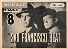 1959 TV AD ~  Warner Anderson & Tom Tully in San Francisco Heat/The LineUp