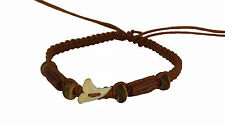 Tribal Real Sharks Tooth Lucky Brown Bracelet