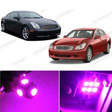 11 x Premium Hot Pink LED Lights Interior Package Kit for Infiniti G35