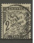 "FRANCE STAMP TIMBRE TAXE N° 23 "" TYPE DUVAL 2F NOIR "" OBLITERE TB SIGNE"
