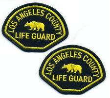 AS SEEN ON TV BAYWATCH MOVIE PROP INSIGNIA: Los Angeles County LIFEGUARD X 2
