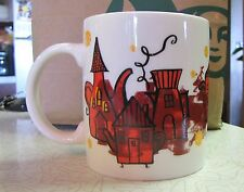 2000 Starbucks Coffee House Village Mug Cup 12 oz Old Logo