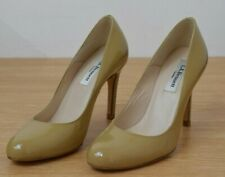 L K Bennett Shiloh Nude Beige patent leather High Heel Shoes Size 35 UK 2