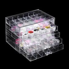 5 Layers Drawer Clear Acrylic Storage Box Nail Polish Rack Makeup Organizer Case