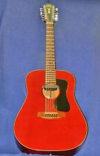 Colorful 1986 GUILD D-212 Cherry Acoustic/Electric 12-String, VGCond!