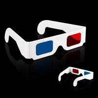 10 Stück Anaglyph 3 Dimension 3D Brille Glasses Film Rot /Cyan Blau Geschenk.