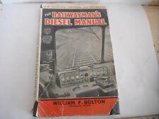 BRITISH RAILWAYMANS DIESEL H/B OPERATOR MANUAL 1958 voith diagram photos data