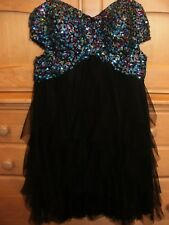 Blondie Sweet 16 Quinceanera Prom Dress, Junior size 1, Black with sequins