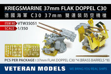 VETERAN 1/350 VTW-35051 GERMAN KRIEGSMARINE 37mm FLAK DOPPEL C30