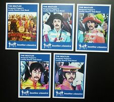 Set of 5 BEATLES CLASSICS trade cards - SERGEANT PEPPER - Blue series