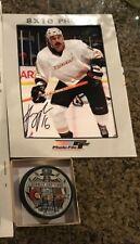 NHL ANAHEIM DUCKS GEORGE PARROS AUTOGRAPHED 2007 FINALS PUCK and PHOTO