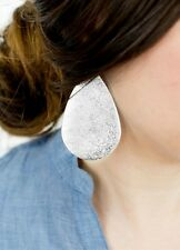 Monogram Large Metallic Teardrop Earrings Drop Dangle For Women Fashion Jewelry
