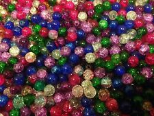 CZECH CRACKLE CRYSTAL GLASS BEADS, SOLD BY 100 BEADS 8MM ASSORTED COLORS