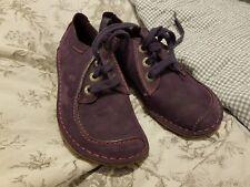Clarks Purple Suede Shoes Size 4.5