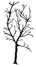 Unmounted Rubber Stamp Tracery Large Tree - 5067
