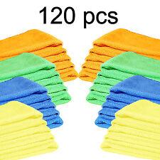 120 PCS Microfiber Cleaning Cloth Towel Rag Car Polishing Detailing No-Scratch