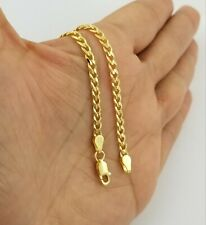 14K Yellow Gold Cuban Curb Link Chain Anklet Bracelet