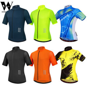 Men Cycling Jersey Short Sleeve Breathable Top MTB BMX Bike Riding Cooling Shirt