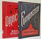 DRACULA by Bram Stoker FRANKENSTEIN by Mary Shelley Soft Leather Bound Brand NEW