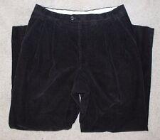 Men Canali Sport Italy black pleated corduroy cotton pants, sz 36 (fits like 34)