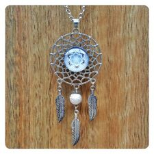 Geometric Design Cabachon Dream Catcher Fashion Pendant Boho Mandala Necklace