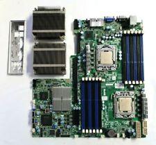 Supermicro X8DTU-F Server Motherboard + 2 Heatsinks 2x Intel L5640 CPUs Combo