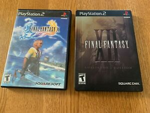 CIB PS2 Final Fantasy X & XII (10 &12) Playstation 2 Complete Tested