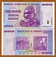 Zimbabwe, 500 million (500,000,000), 2008, AB-Prefix, P-82, UNC
