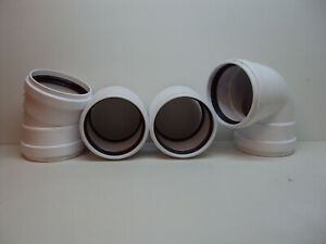 """Plastic Trends 6"""" PVC coupling & bends with rubber gasket (Lot of 4) FREE S & H"""