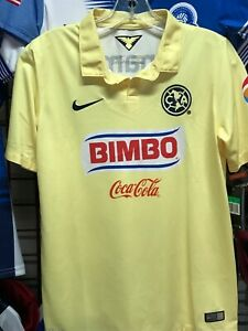 Nike Club America Home soccer jersey Yellow 2014-15 Size YXL Boy's Only