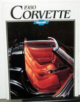 Original 1980 Chevrolet Corvette Dealer Sales Brochure Large Poster
