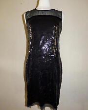 JONES NEW YORK Size M Black Sequin & Net Sheath Dress *NWT $169