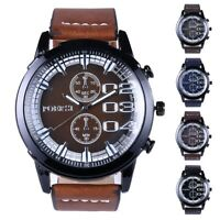 Fashion Mens Stainless Steel Business Watch Analog Sport Quartz Dial Wrist Watch