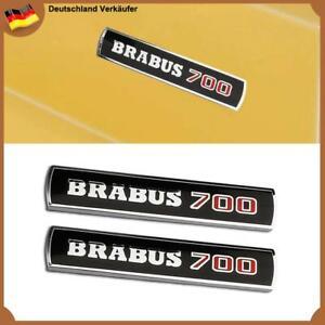 2x BRABUS 700 Schriftzug Abzeichen Schwarz Seite Panel Emblem für Mercedes Benz