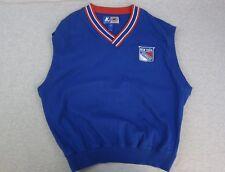 Men's Starter New York NY Rangers Blue Sweater Vest Large NHL Hockey
