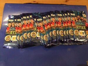 Cricket Attax Trading Game IPL17/18-20 Packs 5 Cards Each. Unopened.  Carry Case