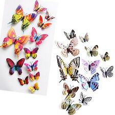 12pcs 3d farfalla citazione Decalcomanie da muro adesivo ARTE CAMERA