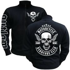 Freizeitjacke Sweatjacke Motorcycle Hardcore Club MC Rocker Biker Totenkopf