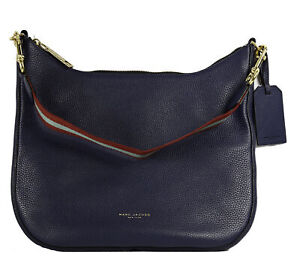 Marc Jacobs Leather Gotham Hobo Bag in Midnight Blue