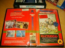 Vhs *HYSTERICAL* 1983 Pre Cert Mega RARE - Roadshow 1st Issue Cult Horror Spoof!