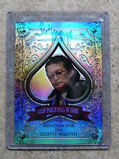 2011 Leaf Razor Metal Poker Prismatic HOF Poker Hall of Fame SCOTTY NGUYEN /10