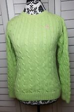 Lilly Pulitzer Cable Knit Crew Neck Sweater Womens Extra Small Light Green Top